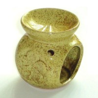 Small Oil Burner - Flower - Yellow