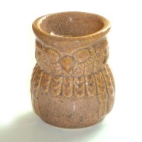 Small Oil Burner - Owl - Caramel