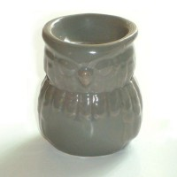 Small Oil Burner - Owl - Grey