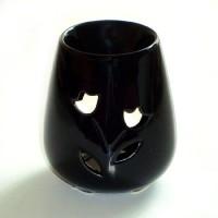 Small Oil Burner - Rose - Black