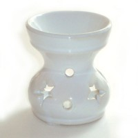 Small Oil Burner - Star - White