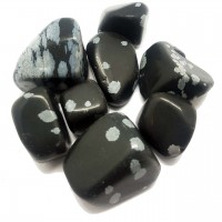 Tumbled Stones - SNOWFLAKE OBSIDIAN
