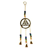 Brass Wind Chime with bells - TRIQUETRA