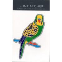 Decal / Window Sticker - Suncatcher GREEN BUDGERIGAR