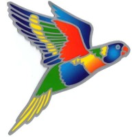 Decal / Window Sticker - Suncatcher RAINBOW LORIKEET