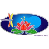 Decal / Window Sticker - Sunlight DRAGONFLY on LOTUS