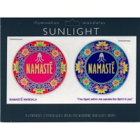Decal / Window Sticker - Sunlight NAMASTE MANDALA