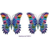 Decal / Window Sticker - Sunlight TROPICAL BUTTERFLY