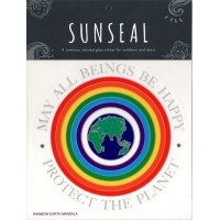 Decal / Window Sticker - Sunseal RAINBOW EARTH