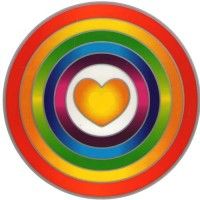 Decal / Window Sticker - Sunseal RAINBOW HEART