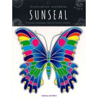 Decal / Window Sticker - Sunseal TROPICAL BUTTERFLY