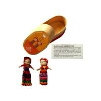 LOVE WORRY DOLLS - 2 BIG Worry Dolls in Pine Box