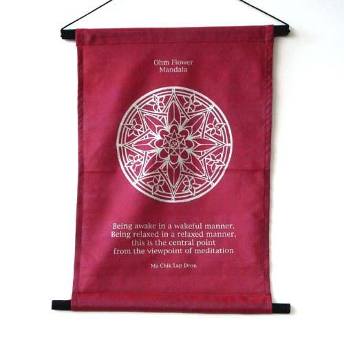 Hanging Banner - Ohm Flower Mandala
