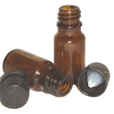 Amber Tamper Evident Glass Bottles - 5ml