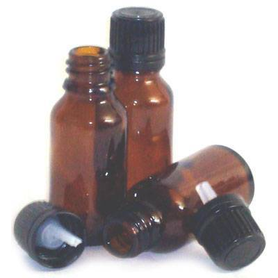 Amber Tamper Evident Glass Bottles - 30ml
