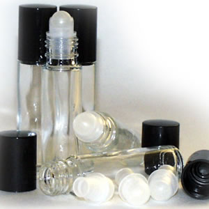 Clear Glass Roller Ball Bottles 10ml