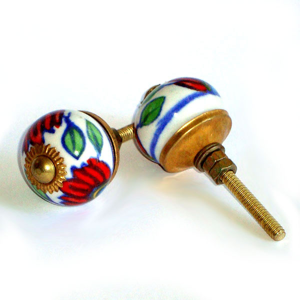 Ceramic Door Knob - SMALL - Design [D]