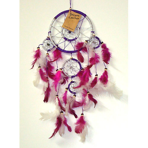 Small DREAM CATCHER Dual Ring - PURPLE