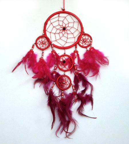 Small Dream Catcher - RED (bb)