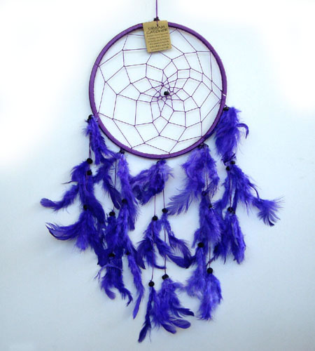 Large Dream Catcher ONE RING - Purple