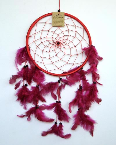 Large Dream Catcher ONE RING - Red