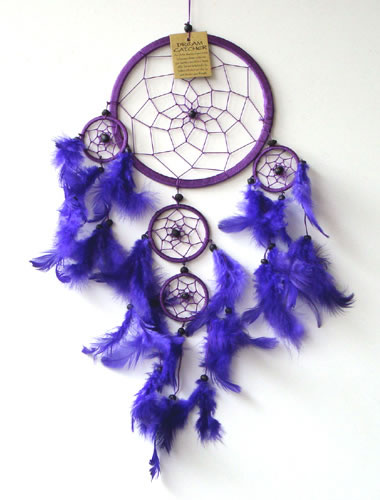 Medium DREAM CATCHER - Purple