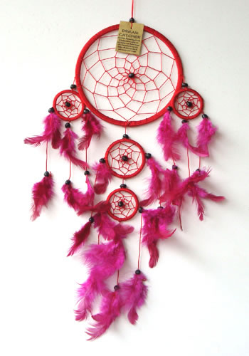 Large Dream Catcher - RED