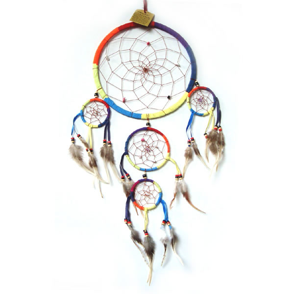 Large Dream Catcher - SUEDE Rainbow