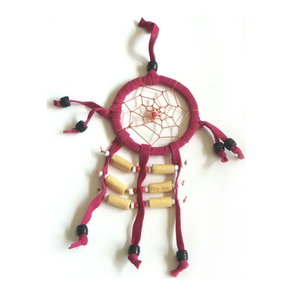 Mini Dream Catcher SUEDE 6cm - Pink