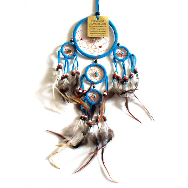 Mini Dream Catcher SUEDE - Aqua