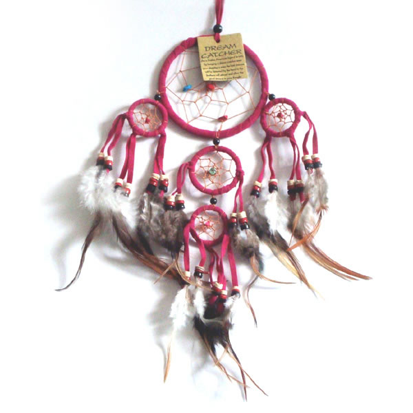 Mini Dream Catcher SUEDE - Pink