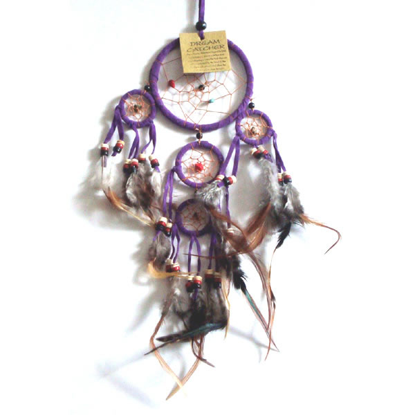 Mini Dream Catcher SUEDE - Purple