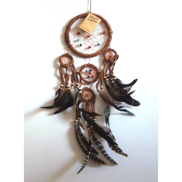 Small SUEDE DREAM CATCHER - Brown