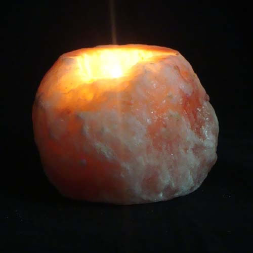 Himalayan Salt Tea Light Candle Holder - NATURAL