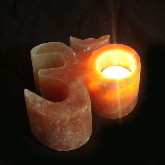 Himalayan Salt Tea Light Candle Holder Ohm Magicessence