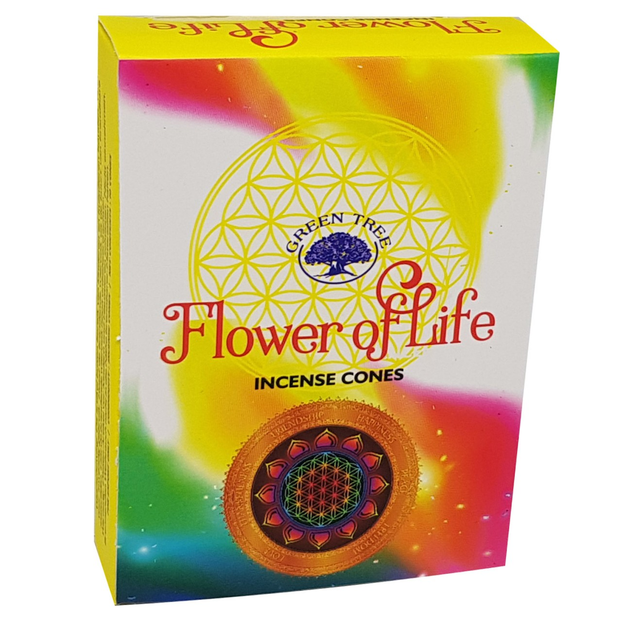 Green Tree Incense Cones - FLOWER OF LIFE