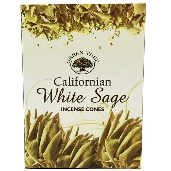 Green Tree Incense Cones - CALIFORNIA WHITE SAGE