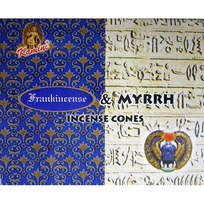 Kamini Incense Cones - FRANKINCENSE & MYRRH