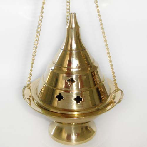 Brass Hanging Charcoal Censer Large
