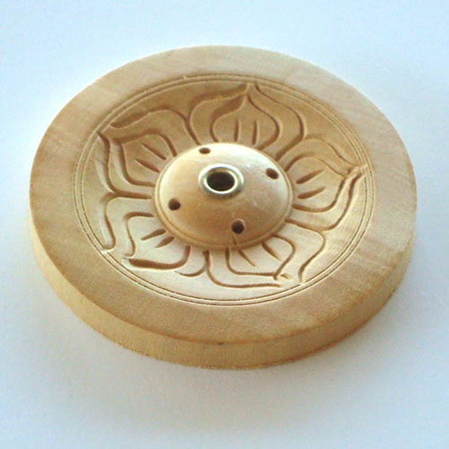 Incense Holder Tibetan Wooden - Flower