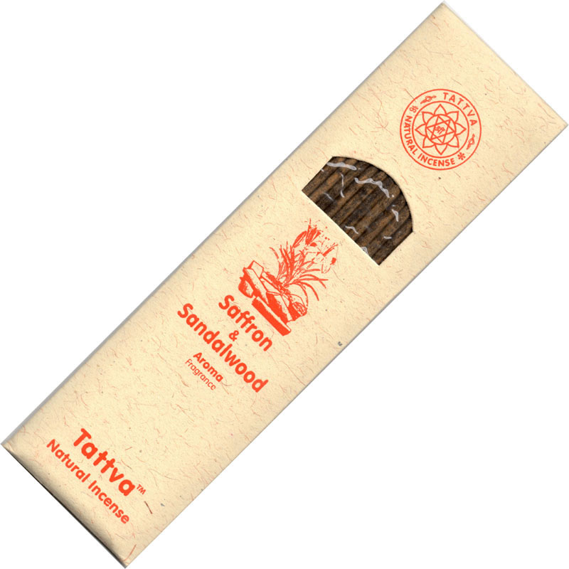 Tattva Ayurveda Incense - SAFFRON & SANDALWOOD