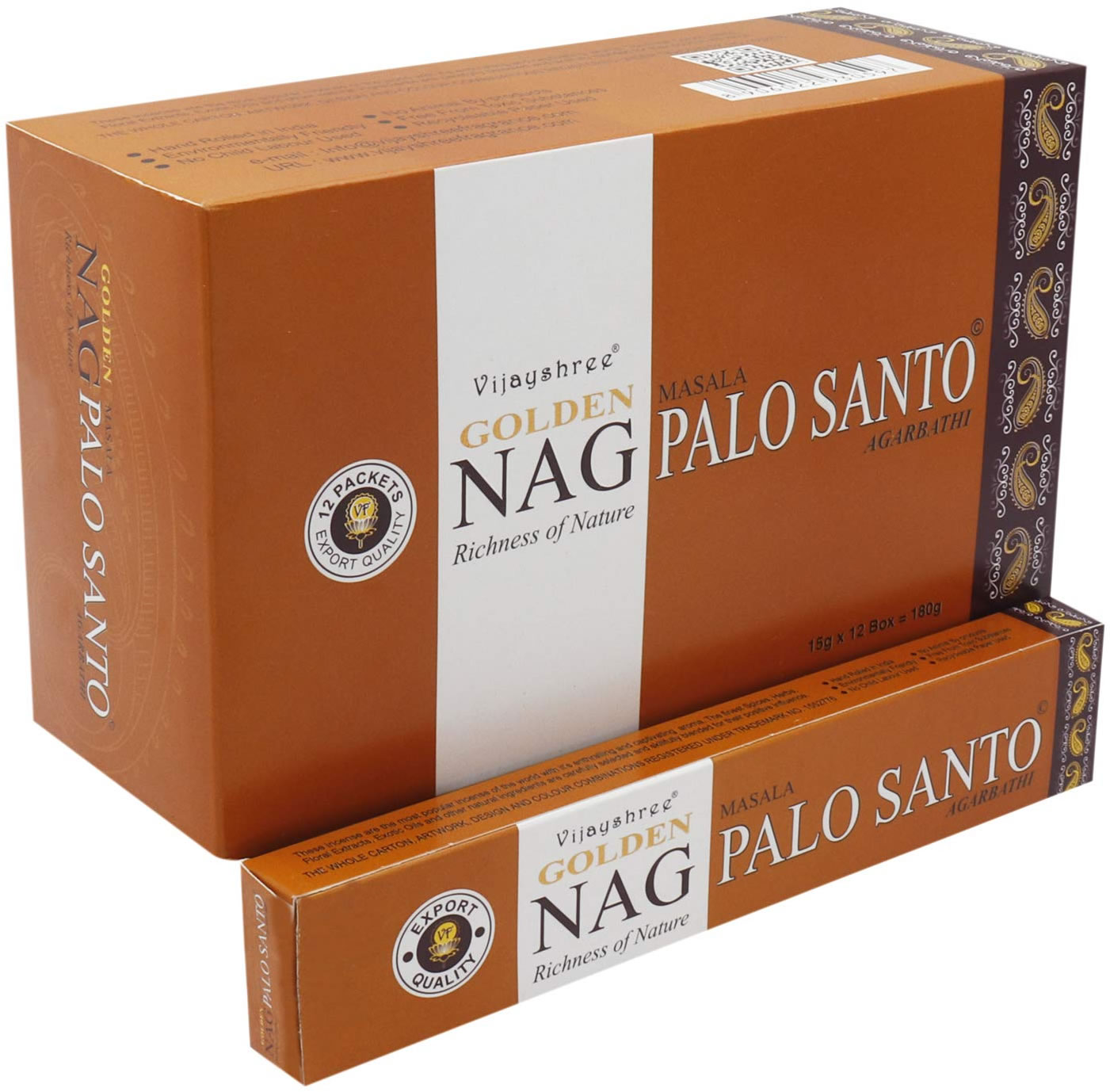 Golden NAG PALO SANTO Incense