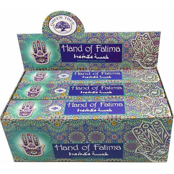 Green Tree Incense Sticks - HAND of FATIMA