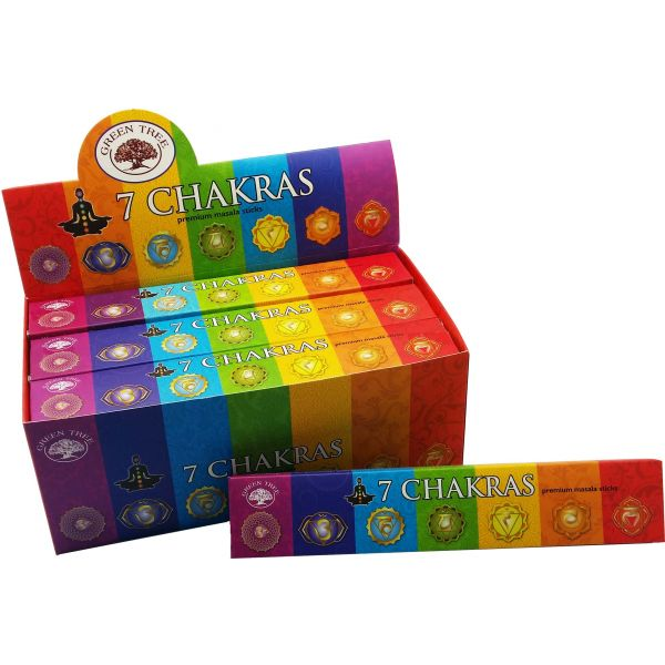 Green Tree Incense Sticks - 7 CHAKRAS