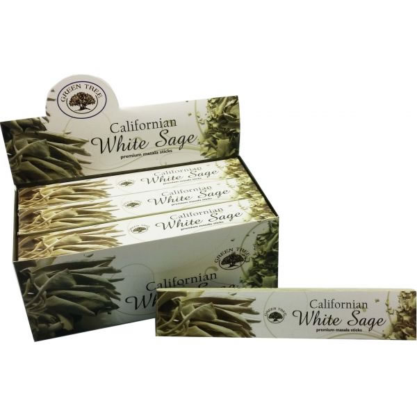 Green Tree Incense Sticks - CALIFORNIA WHITE SAGE