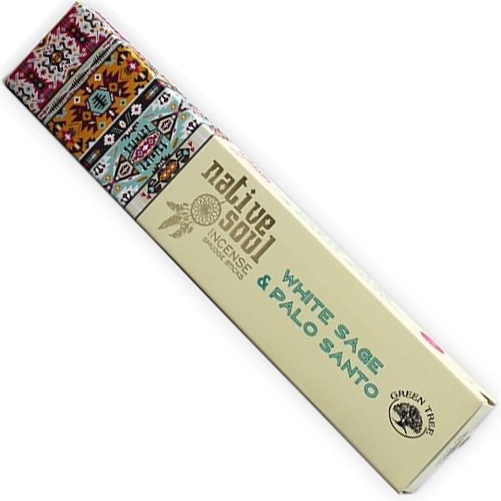 Green Tree NATIVE SOUL Incense - WHITE SAGE & PALO SANTO