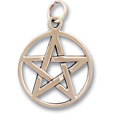 Bronze Pendant - PENTAGRAM Five Pointed Star #050