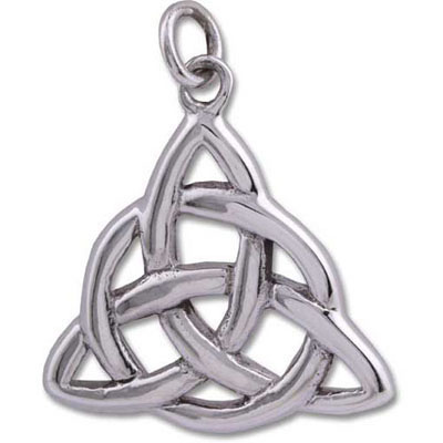 Sterling Silver Pendant - CELTIC TRIQUETRA Large