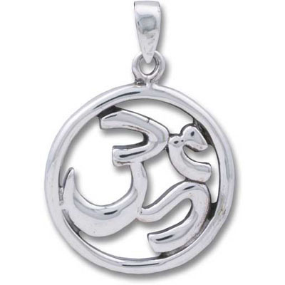 Sterling Silver Pendant - OMKAR Circle