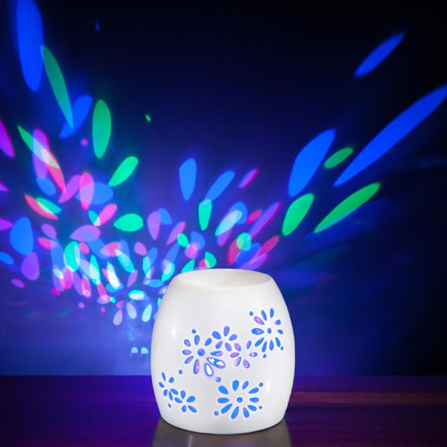 Electric Oil Burner Multi LED Light - RAINBOW